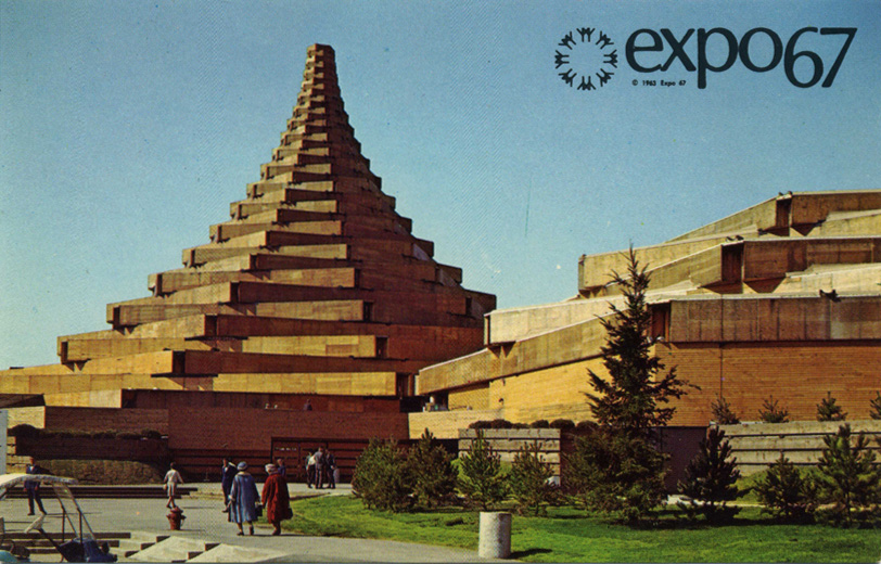 Expo 67 Japan Man in the Community Pavilion