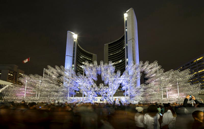 Ai-Weiwei-Forever-Bicycles-Scotiabank-nuit-blanche-toronto-1