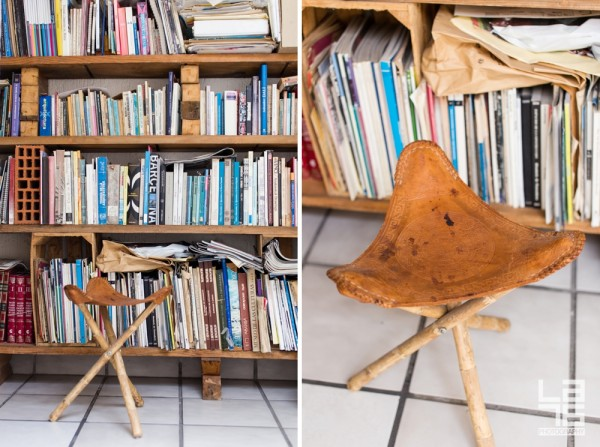 Traditional Mexican banquito (it probably has more than 40 years) so you can sit and choose your next read.