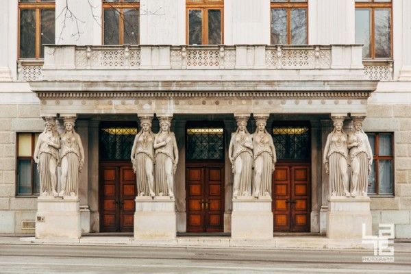 + Back door of the Austrian Parliament Building.