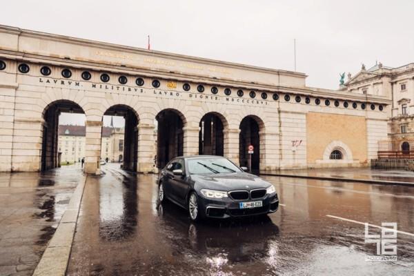 + Vienna road trip with BMW M550d xDrive business sedan.