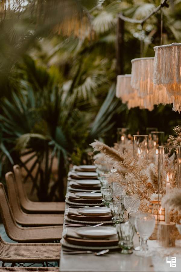 acre wedding decor setup
