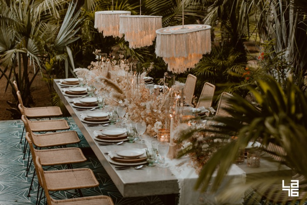 Jungle Table at Acre Baja, by LA76 Photography, Cabo Wedding Photographers