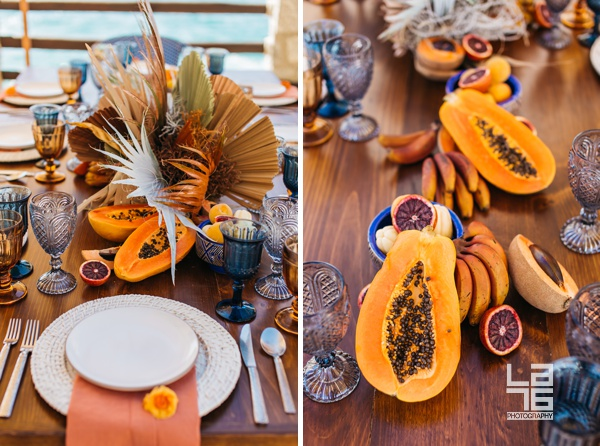 Swoon-Worthy Brunch at Waldorf Astoria Los Cabos Pedregal with Dried Flowers in Rusty-Hues and Burnt-Oranges